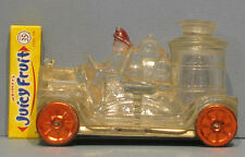 """FINAL BIG PRICE CUT *** OLD GLASS FIRE TRUCK PUMPER CANDY CONTAINER 5"""" LG"""