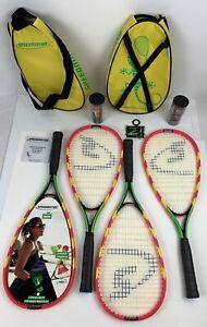 2-Speedminton Badminton S600 Sets ~Four Rackets, Speed-lights, 6 Speeders & More