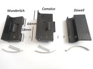 Sliding aluminium window latch lock handle Comalco Wunderlich Dowell non keyed