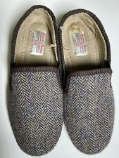 Harris Tweed Slippers Size 9 Hand Woven in Outer Hebrides Scotland