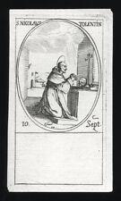 santino incisione 1600 S.NICOLA DA TOLENTINO  j.callot
