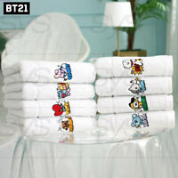 BTS BT21 Official Authentic Goods Bath Cotton Towel Comicpop Badge Ver 40 x 80cm