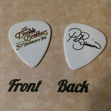 DOOBIE BROTHERS band logo PAT SIMMONS signature guitar pick -(w)