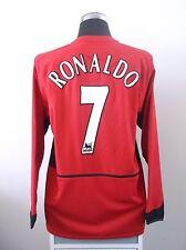 Cristiano RONALDO #7 Manchester United Home LS Football Shirt Jersey 2003/04 (L)
