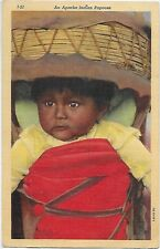 Vintage Postcard - An Apache Wide Eyed Papoose