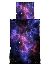 4 tlg Bettwäsche 135x200cm Weltall Weltraum Galaxie Planeten Universum
