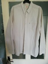 Vintage Off White Levi Shirt 90s Wedding Retro Mens XXL