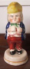 Early 19th C Staffordshire pottery Toby figurine spill holder/vase