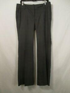 "ANN TAYLOR LOFT ""Marisa"" Dark Gray Plaid Polyester Blend Pants - Size 8 - NWT"