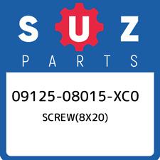 09125-08015-XC0 Suzuki Screw(8x20) 0912508015XC0, New Genuine OEM Part