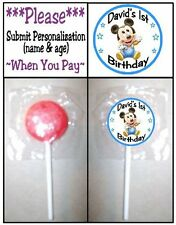 24 Baby Mickey Mouse Birthday Party Shower Lollipop Sticker Invitation Seals