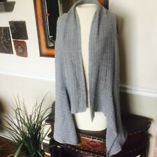 Christopher Banks Sweater Cardigan Vest Waterfall Tunic Gray Women's Small