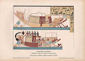 1903 Historical Deutsche Aufdruck ~ Transport Alte Ägypten