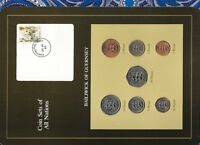 Coin Sets of All Nations Guernsey 1979-1984 UNC £1, 20, 50 Pence 1983 20MY85