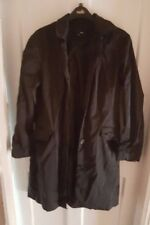 Ladies 'H&M' Black Raincoat. Size 10. vgc.