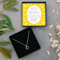 REAL Silver Heart Necklace Marvellous Mummy Jewellery Gift Box Birthday Present