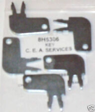 (5) 8H5306 Master Disconnect & Old Igniton Keys Fits Cat Caterpillar Equipment