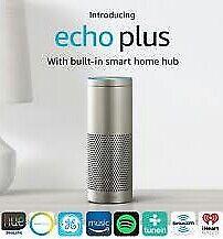NEW! Amazon Echo Plus with Built In Smart Hub & Alexa (Silver)