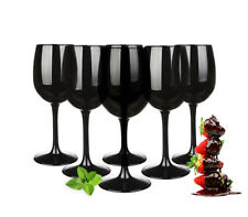 6 NEGRAS copas de vino 300ml tinto Blanco Set