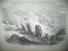 ILE DE PAQUES OCEANIE SUEZ ISMAÏLIA BOIS BOOULOGNE JEU DE BOULES GRAVURES 1869