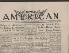 The Rome Daily American August 10 1947 Howard Hughes Glenn Davis Doc Blanchard