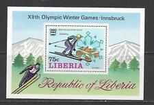 LIBERIA - C210 - C211 S/S - MNH - 1976 - WINTER & SUMMER OLYMPICS