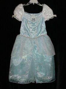 NWOT Disney Store Girls PRINCESS CINDERELLA Musical Dress Gown Costume Sz 5/6