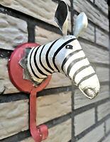 Metall Haken Zebra Vintage Schwarz Weiß Wandhaken Garderobe Kinder Bunter Hook