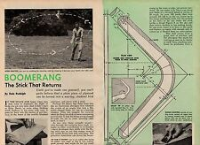 PLANS TO BUILD YOUR OWN BOOMERANG ORIGINAL DIY HOW TO