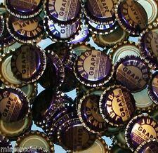 Soda pop bottle caps Lot of 25 JUMBO GRAPE SODA plastic unused new old stock
