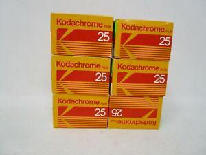 Kodak Kodachrome 25     KM 135-24     Color Slide Film 6 boxes Expired 7/87
