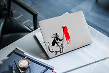 Banksy Decal for Macbook Pro Sticker Vinyl skin air funny 13 15 17 rat paint fun