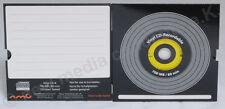 Vinyl CD-R Carbon Gelb10 in Kartonstecktasche ,700 MB zum archivieren