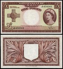 More details for malta 1 pound (p24b) qeii l. 1949 (1954) ef