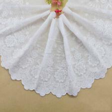1Yard Embroidered Lace Trim Cotton Sewing Ribbon Fabric Knitting Diy Garment