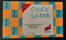 ticket billet place concert CYNDI LAUPER 1987  PARIS