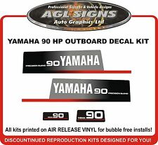 YAMAHA 90 HP Precision Blend Outboard Decals reproductions  Early 90's