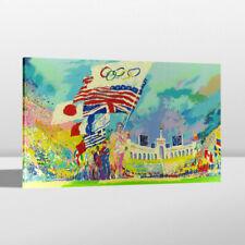 Print Home Wall Decor Art Painting LeRoy Neiman XXIII Olympiad 1984 Canvas 24x36