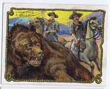 Hassan Cigarettes Cowboy Series T53 Lassoing a Grizzly Bear high grade 326