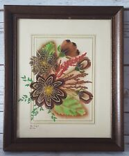 "1986 Prairie Pictures Ellen Kiefert Framed Wall Art 9 1/2"" x 11 1/2"""