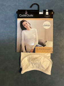Cuddl Duds Women's Small White Long Sleeve Crew Neck Base Layer ClimateSmart Top