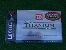 Wilson Staff Hyper Titanium Tour Pro 1 Dozen Balls W/ Bonus Sleeve 15 balls NEW