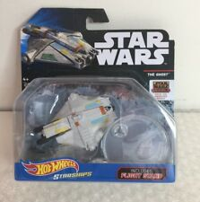 "HOT WHEELS STAR WARS STARSHIP ""THE GHOST"" WITH FLIGHT STAND"