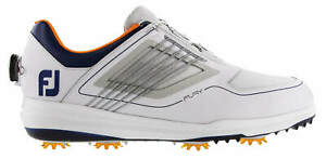FootJoy FJ Fury BOA Golf Shoes 51105 White/Grey/Navy Men's New