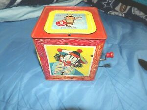 VINTAGE 1961 JACK IN THE BOX (CLOWN) NO. 659 (MINOR DENT AS SHOWN) SOME WEAR