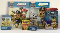 New 6pc Paw Patrol Gift Set Board & Coloring Books Crayons Playing Cards Puzzle