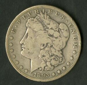 US Coin 1893 S THE KEY DATE Morgan Silver Dollar NO RESERVE!