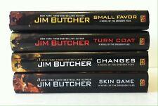 Lot 4 Dresden Files #10 11 12 15 (HC) Jim Butcher_Turn Coat, Changes, Skin Game