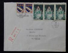 Y11* enveloppe France avec recommandé 1967 n°1392a, 1353