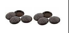 Everbilt 2-1/2 in. Metal Furniture Cups with Carpet Base 2 Packs (4 per Pack)